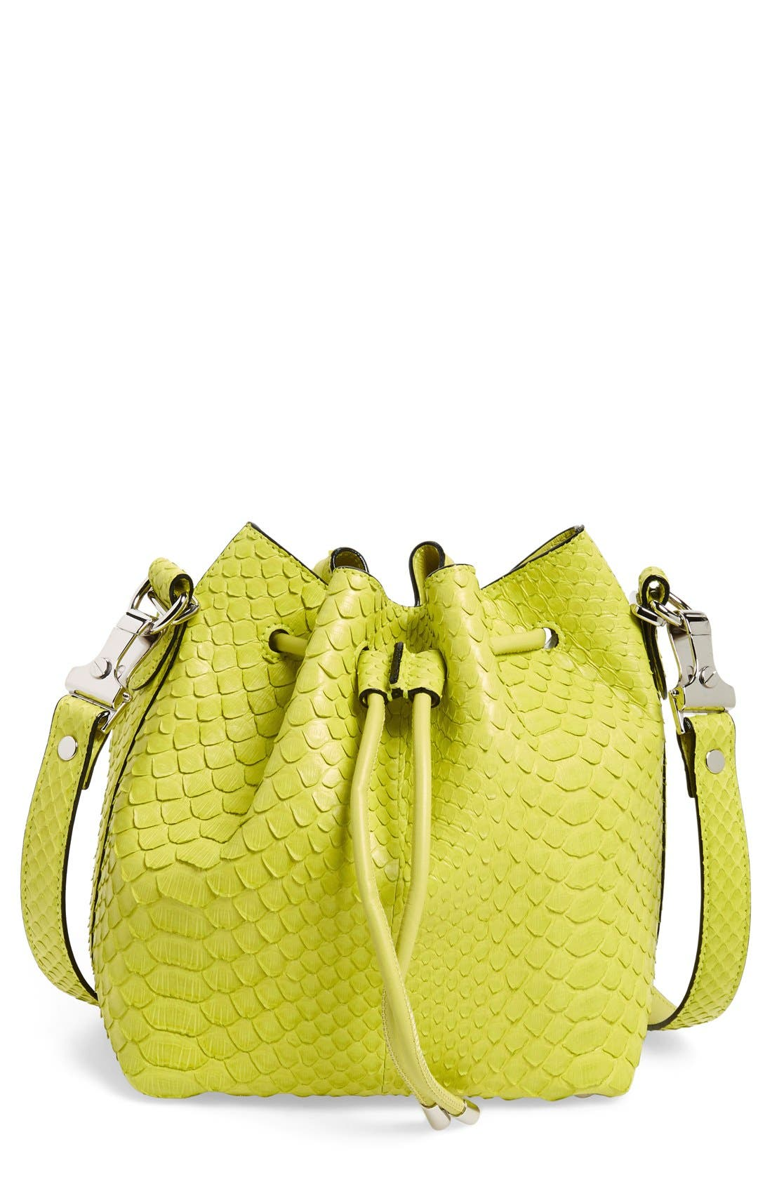 Alternate Image 1 Selected - Proenza Schouler Small Genuine Python Bucket Bag