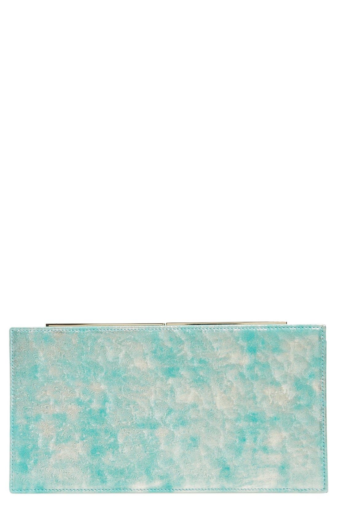 Main Image - Jimmy Choo 'Tux' Metallic Suede Clutch