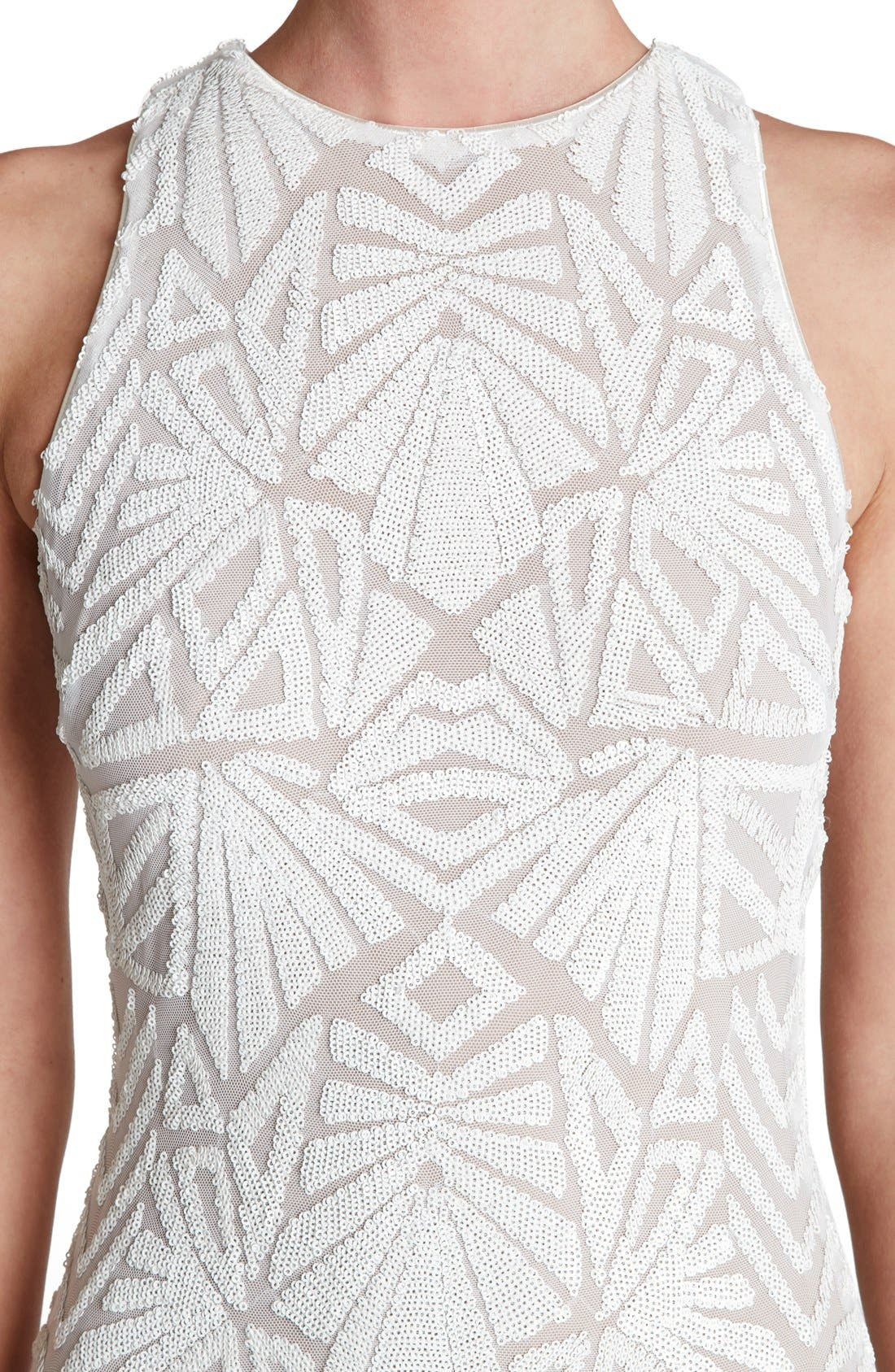 Alternate Image 4  - Dress the Population 'Mia' Sequin Sleeveless Skater Dress