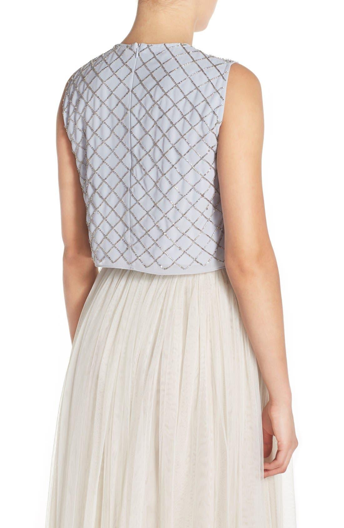Alternate Image 2  - Needle & Thread Embellished Georgette Crop Top