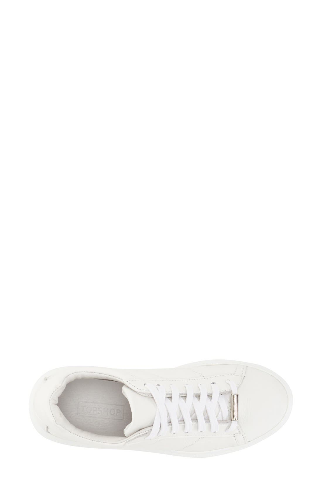 Alternate Image 3  - Topshop 'Toulouse' Leather Sneaker (Women)