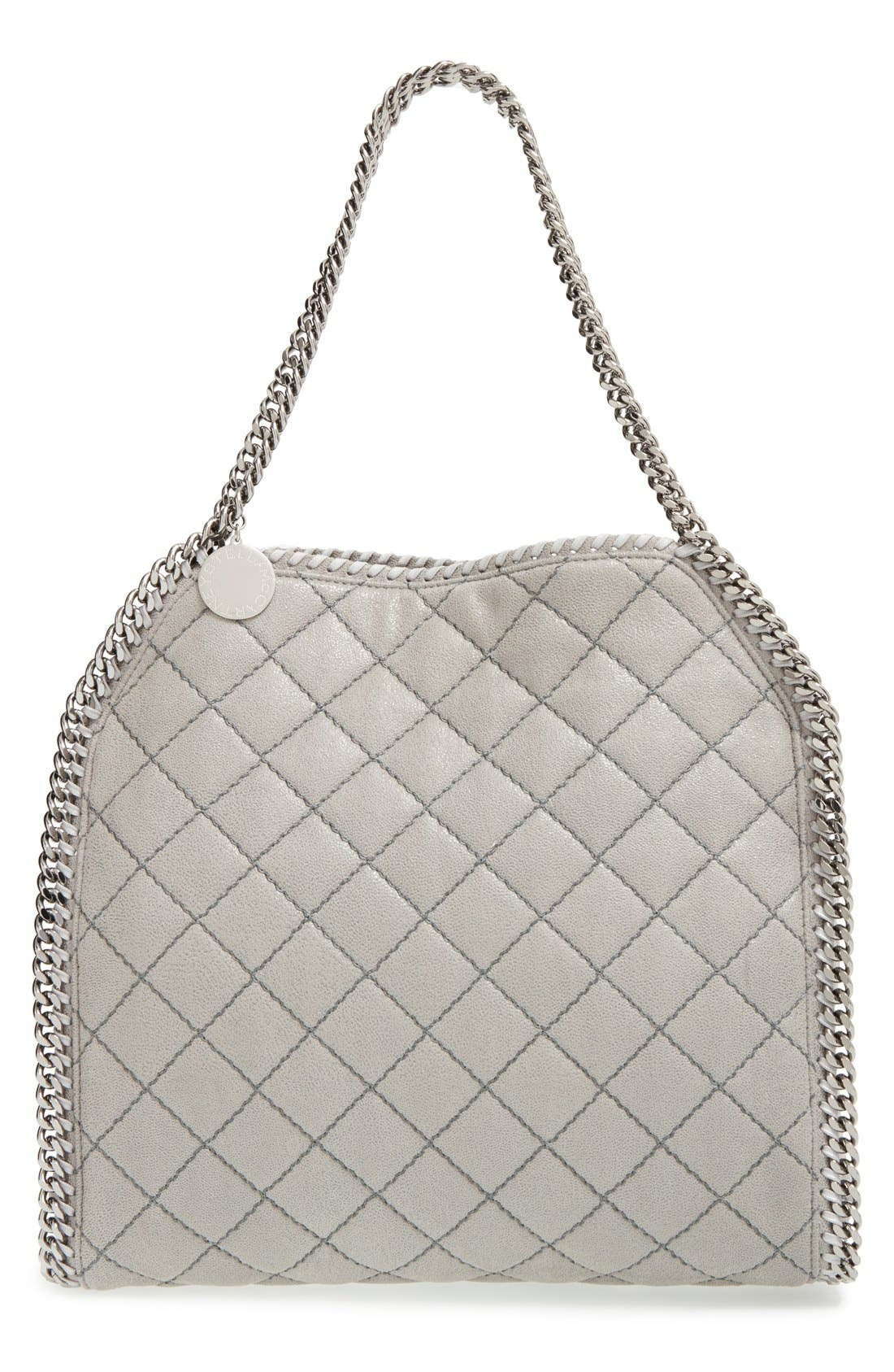 Stella McCartney 'Small Falabella' Quilted Faux Leather Tote