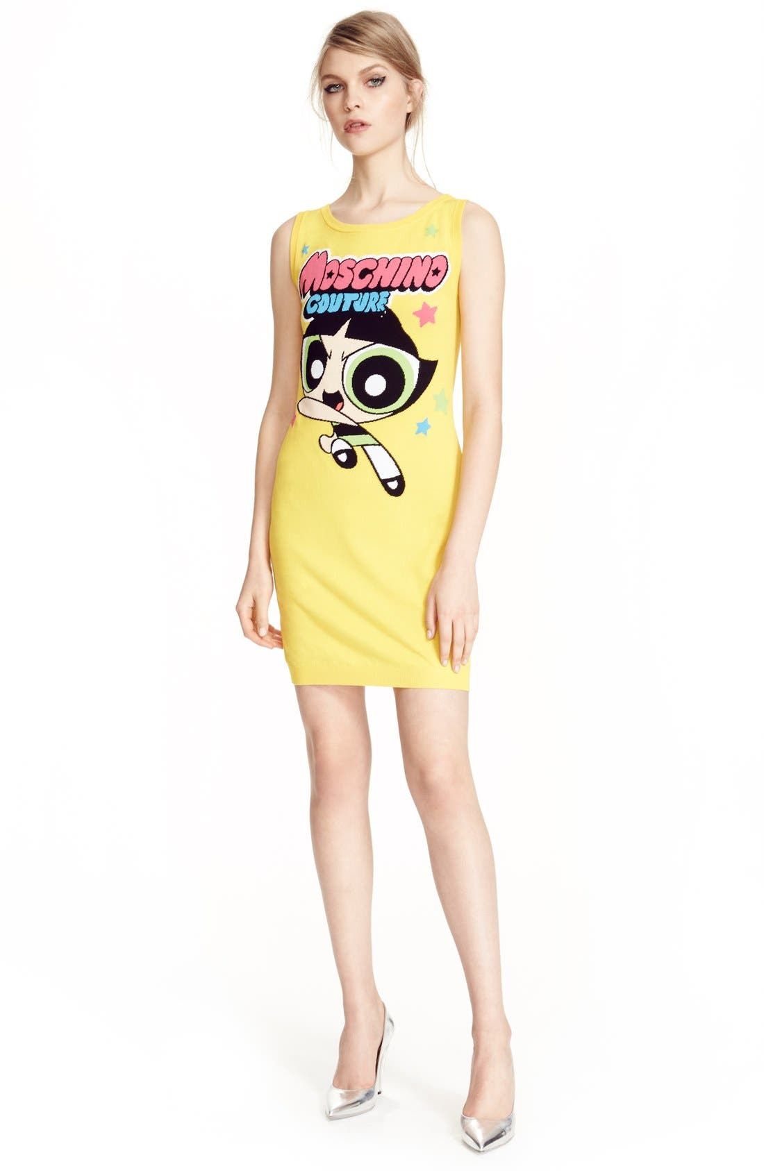 Alternate Image 6  - Moschino 'The Powerpuff Girls® - Buttercup' Intarsia Knit Dress