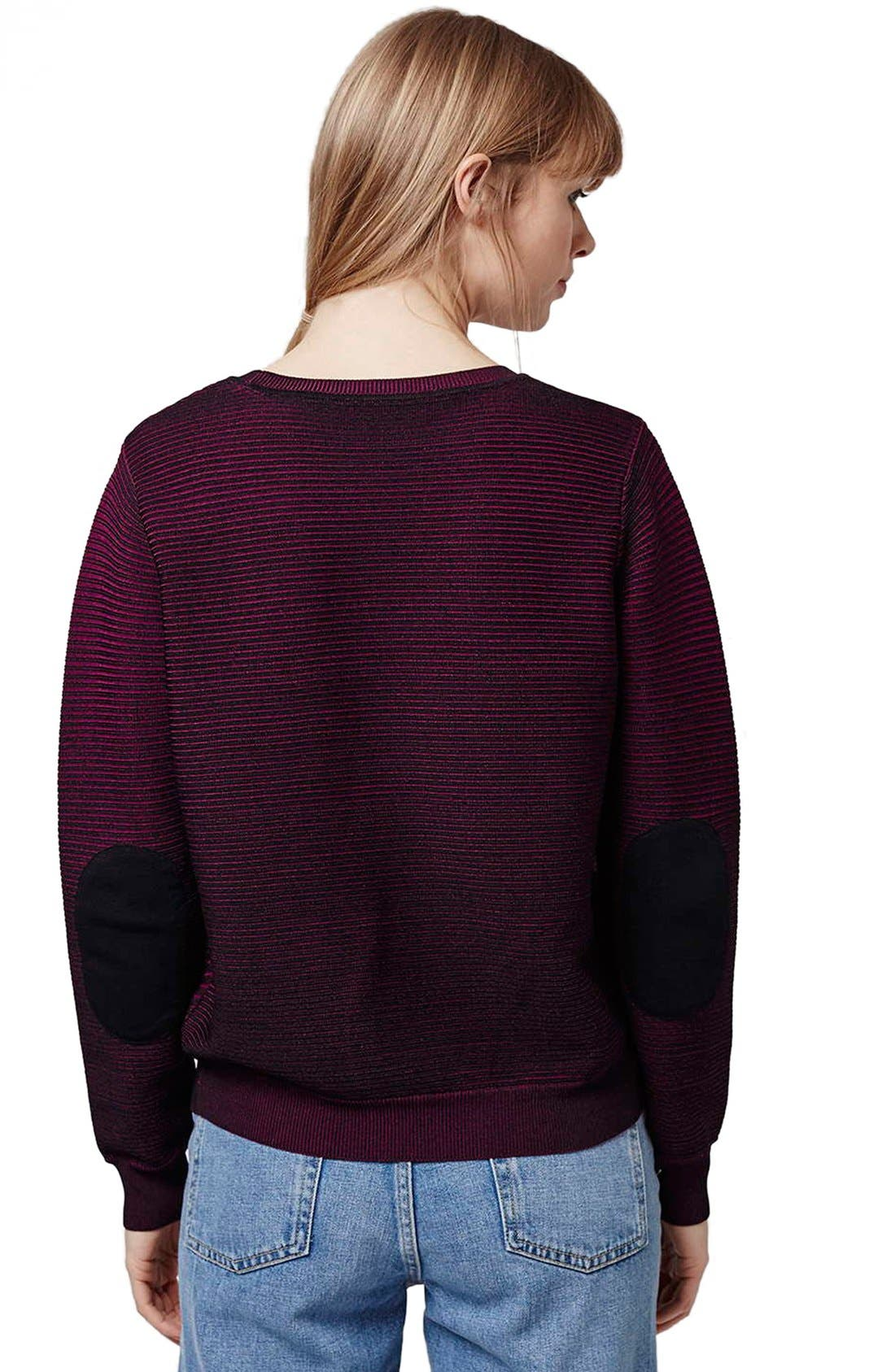 Alternate Image 3  - Topshop Ribbed Sweater with Elbow Patches