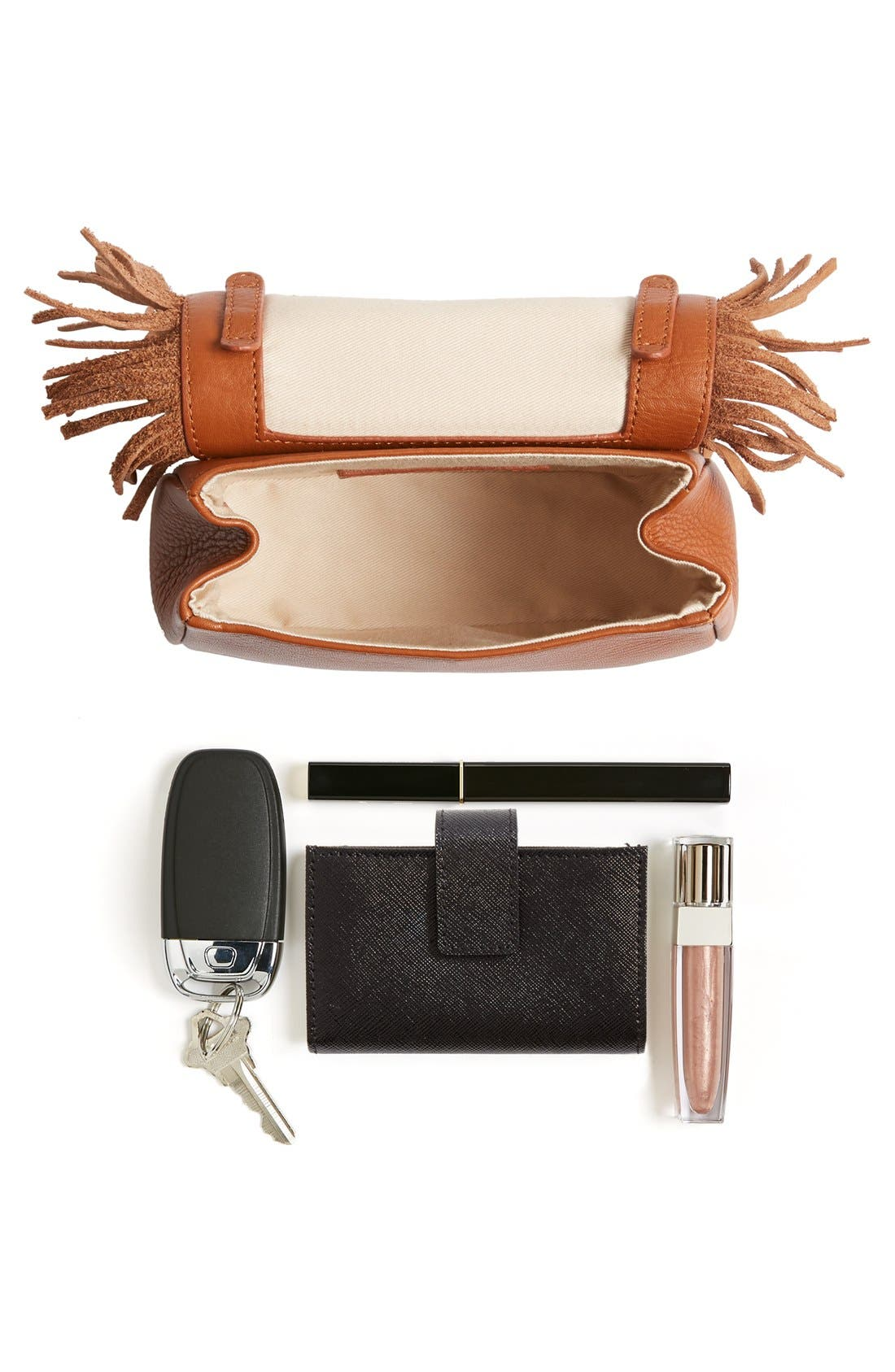 Alternate Image 7  - See by Chloé 'Medium Paige' Fringe Leather & Suede Clutch