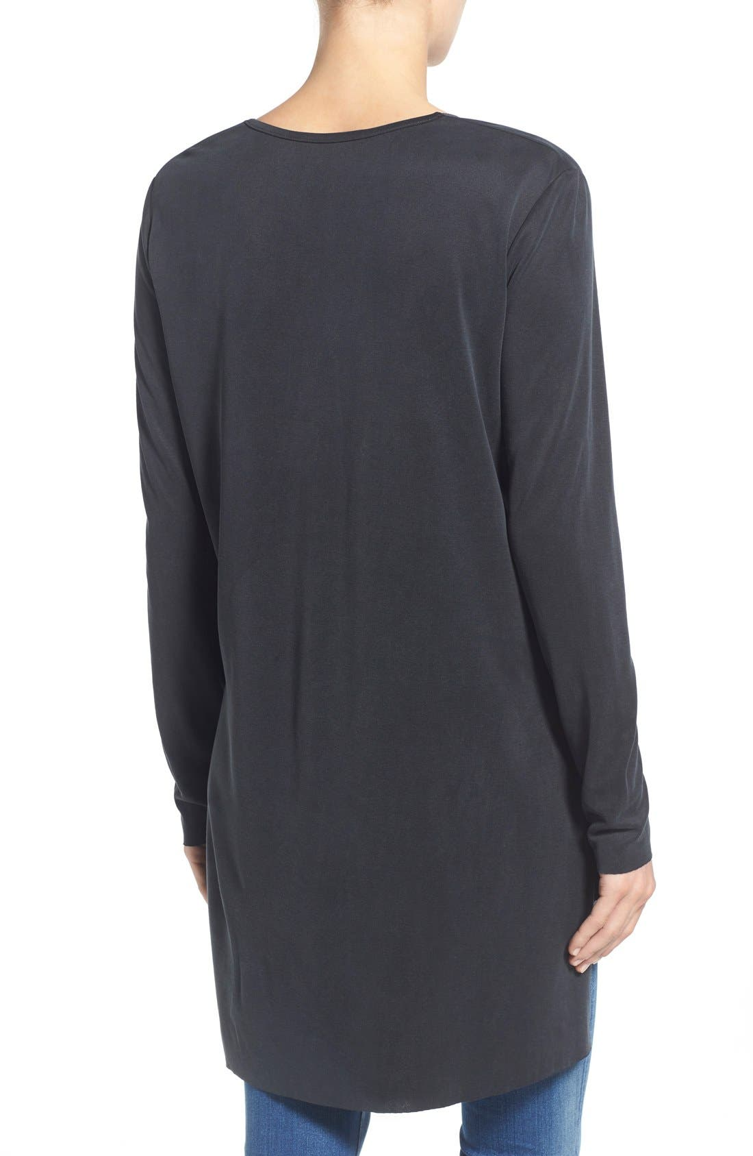 Alternate Image 2  - Matty M Side Zip V-Neck Tunic (Regular & Petite)