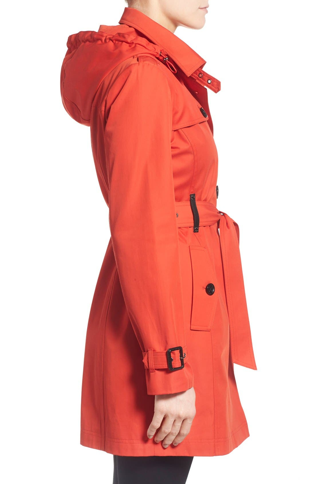 Alternate Image 3  - MICHAEL Michael Kors Single Breasted Raincoat (Regular & Petite)