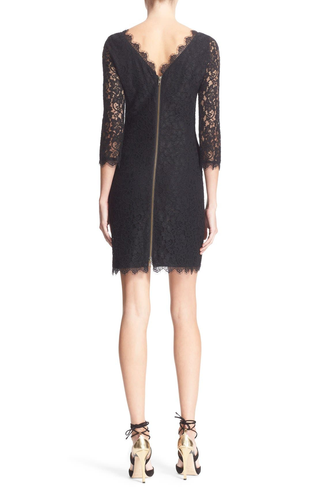 Alternate Image 2  - Diane von Furstenberg 'Zarita' Lace Sheath Dress