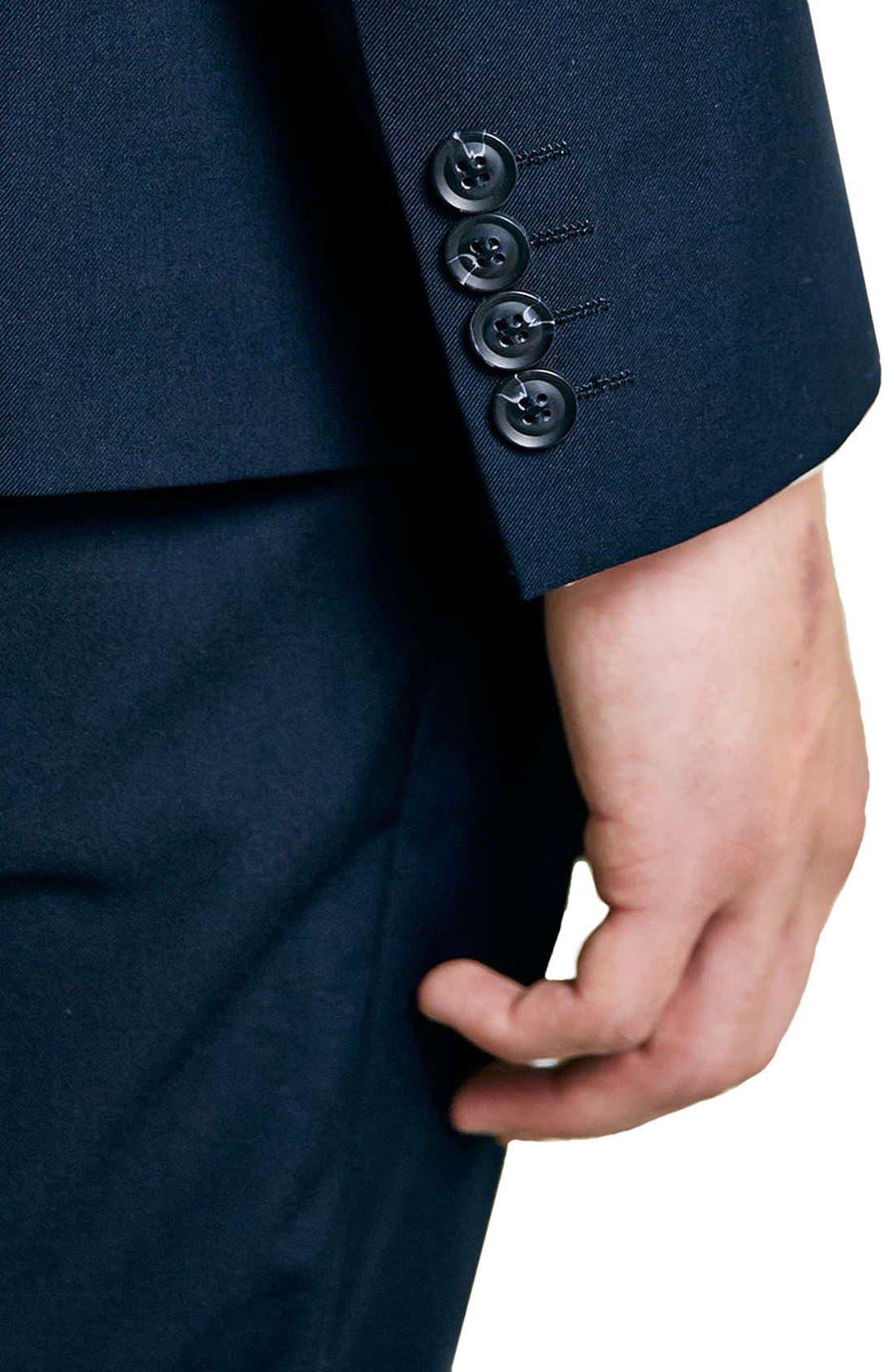 Alternate Image 4  - Topman Navy Skinny Fit Suit Jacket