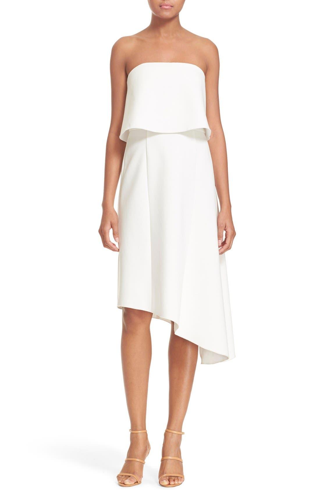 Alternate Image 1 Selected - N Nicholas Strapless Overlay Dress