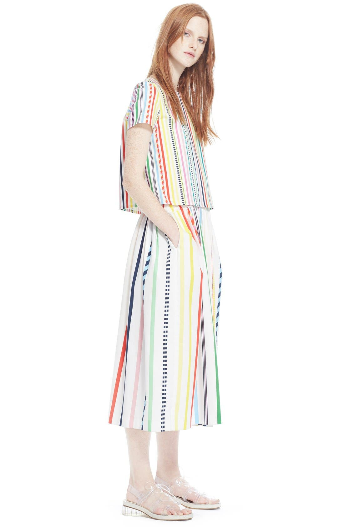 Alternate Image 6  - Mira Mikati Candy Stripe Print Popover Dress