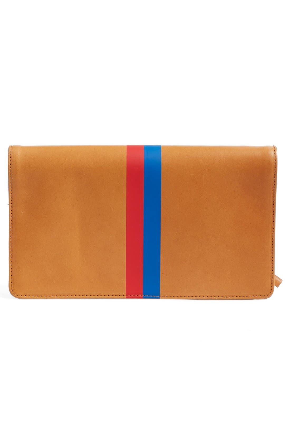 Alternate Image 3  - Clare V. 'Margot' Stripe Leather Foldover Clutch