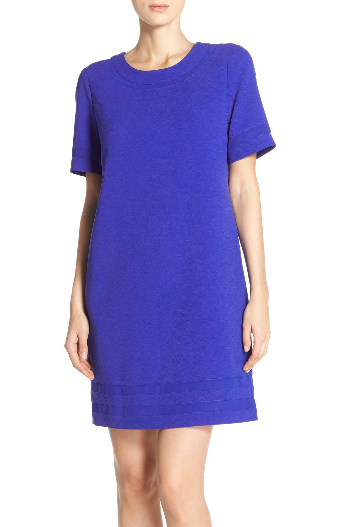 Main Image - Marc New York Short Sleeve Crepe Shift Dress
