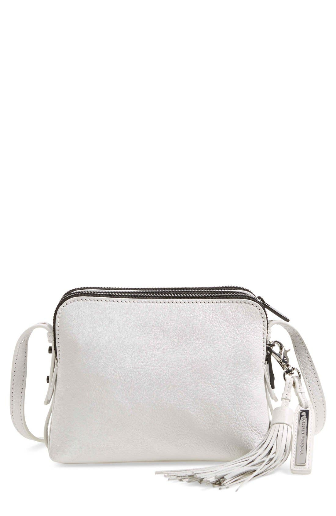 Alternate Image 1 Selected - Loeffler Randall Double Zip Leather Crossbody Bag