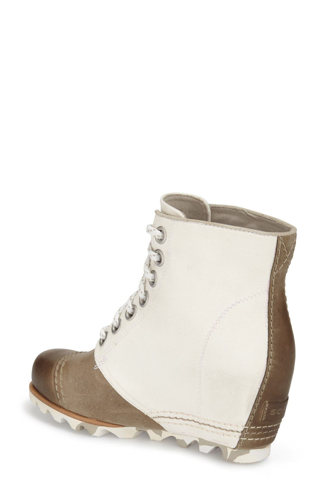 Alternate Image 2  - SOREL '1964 Premium Canvas' Waterproof Wedge Bootie (Women)