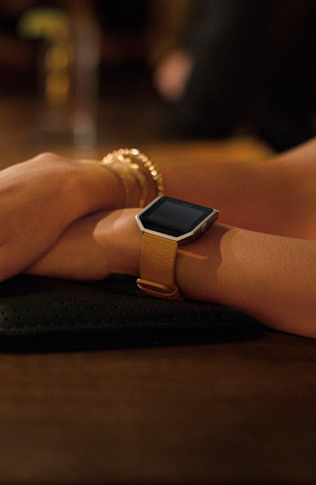 Alternate Image 7  - Fitbit Blaze Leather Smart Watch Band