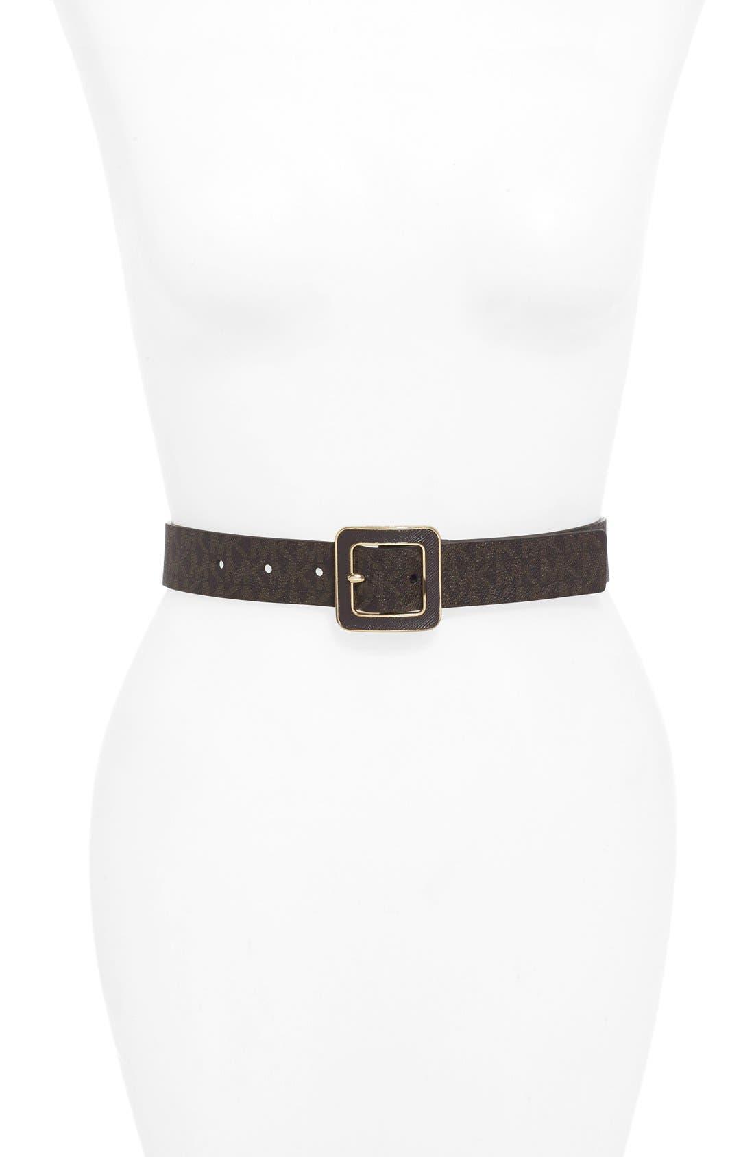 Alternate Image 1 Selected - MICHAEL Michael Kors Textured Logo Belt