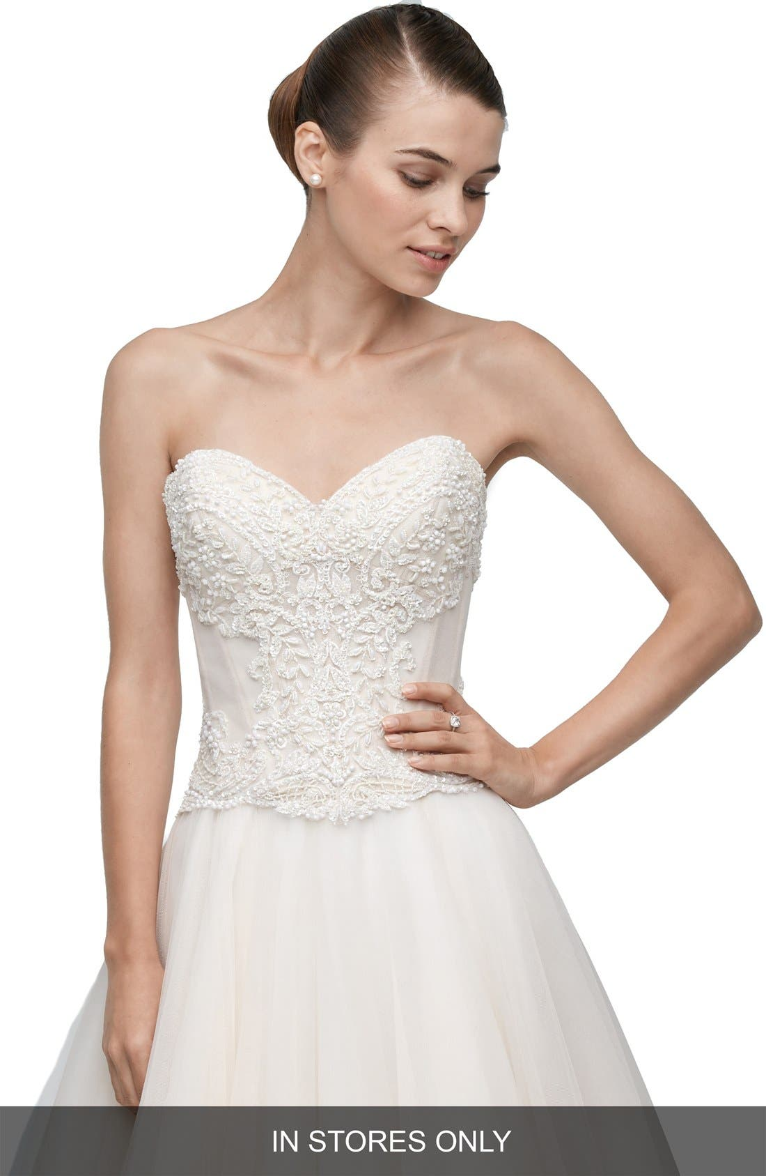 Watters Keo Embellished & Embroidered Corset (In Stores Only)