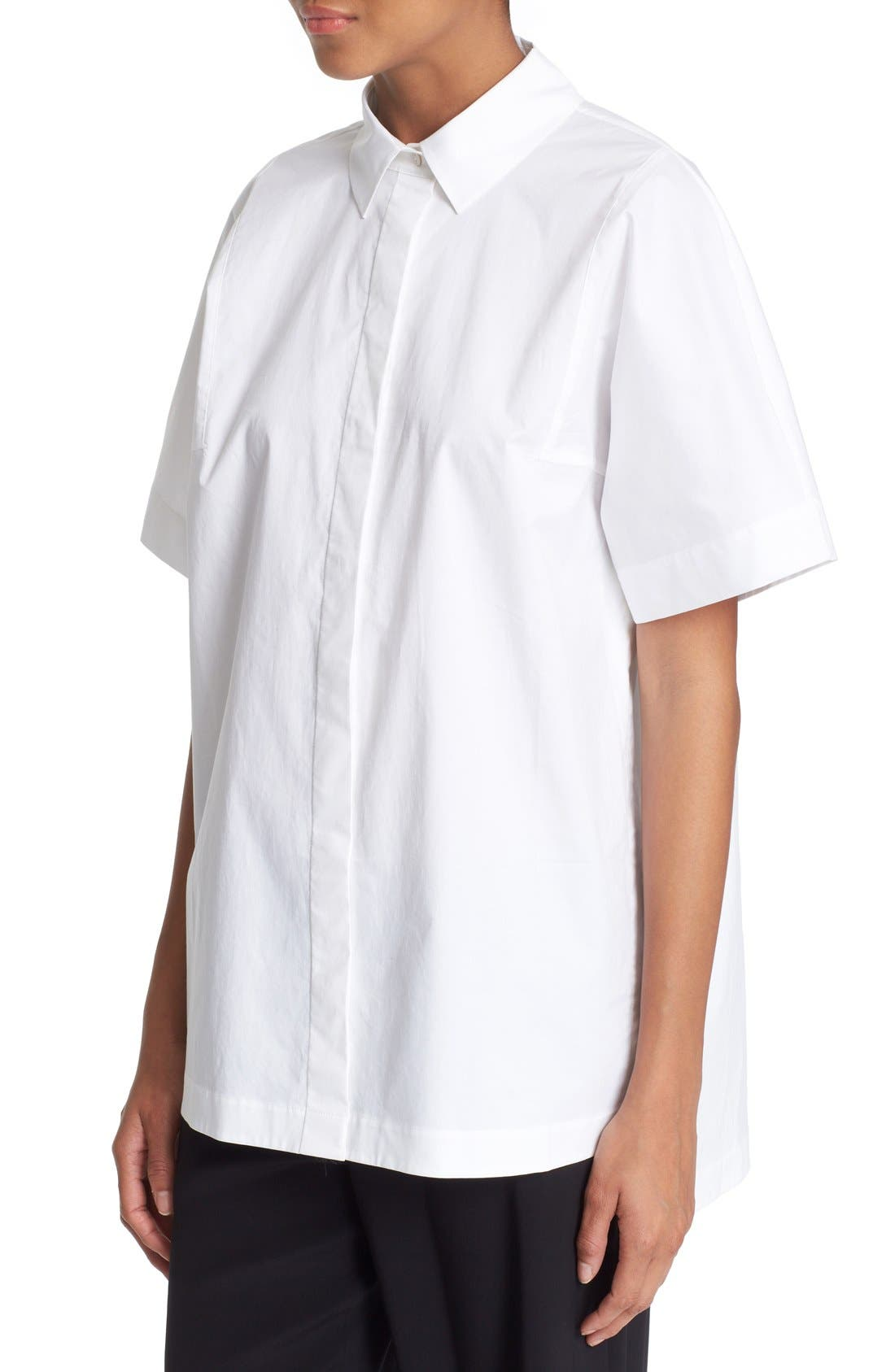 Alternate Image 4  - DKNY Short Sleeve Cotton Shirt