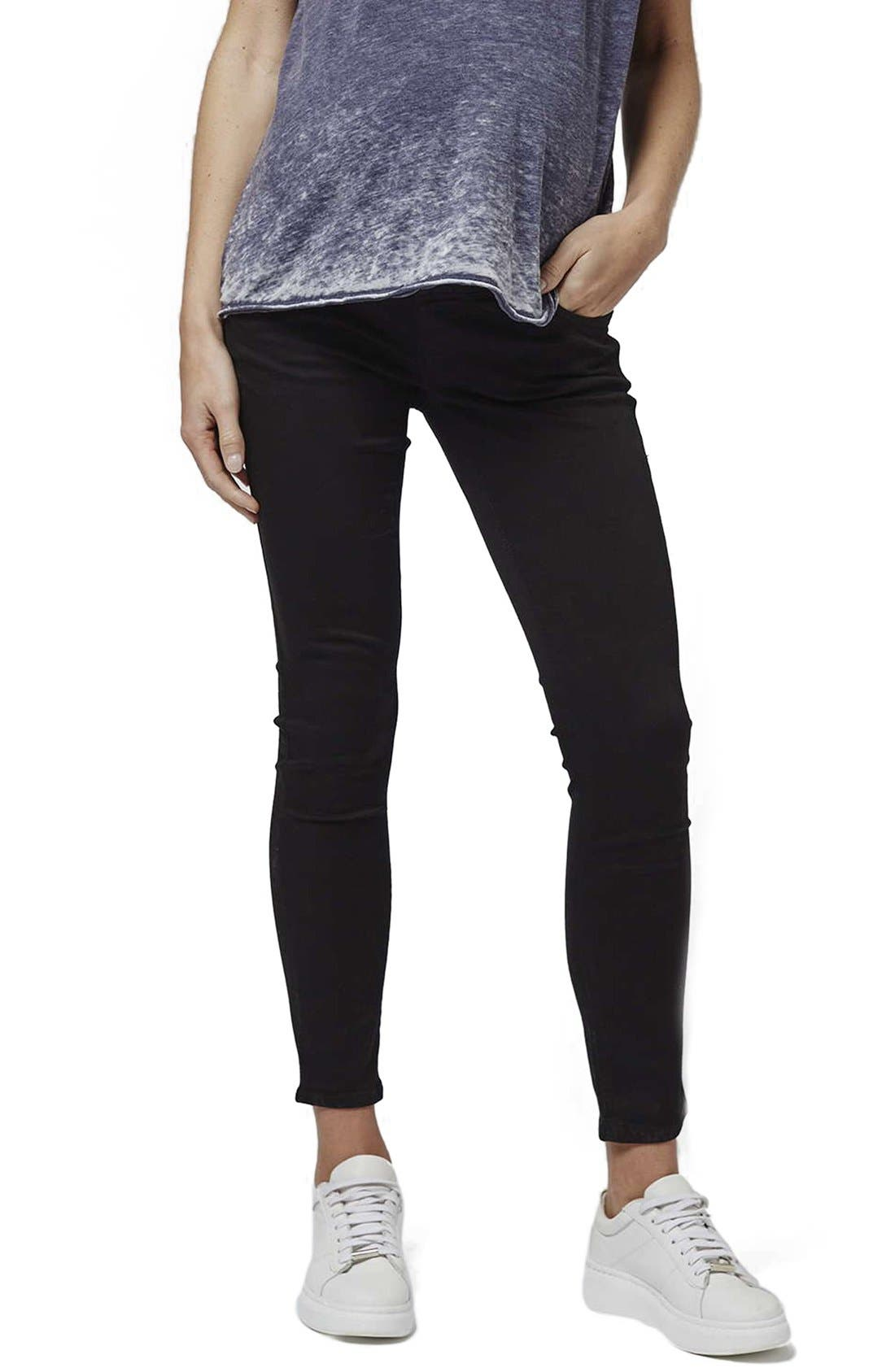 Topshop 'Leigh' Over the Bump Skinny Maternity Jeans