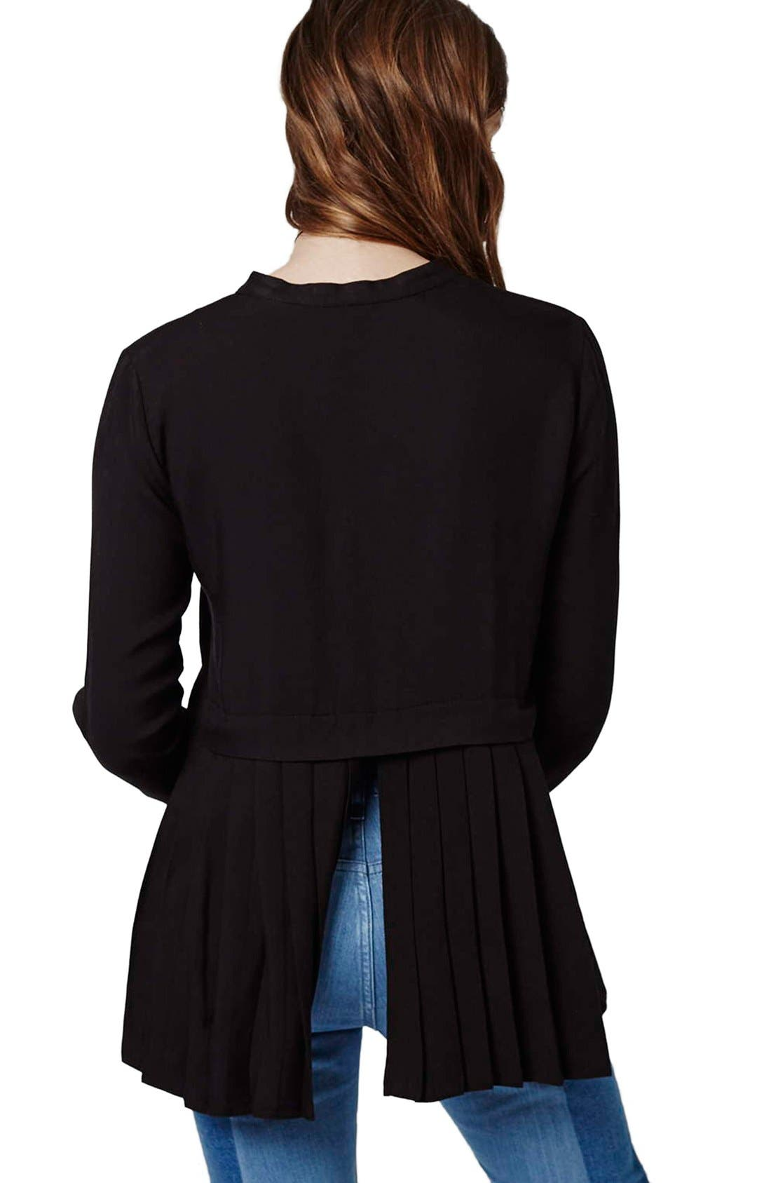 Alternate Image 3  - Topshop Overlay Back Pleat Shirt