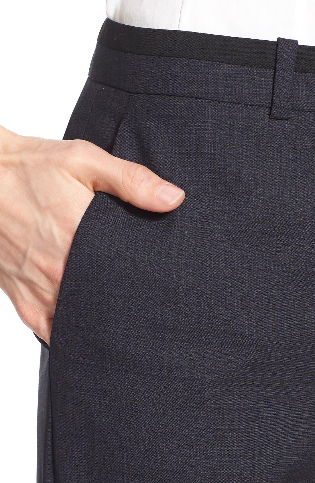 Alternate Image 4  - BOSS 'Tulea' Plaid Stretch Wool Trousers