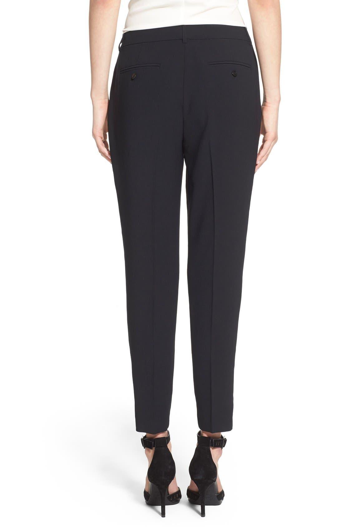 Alternate Image 3  - Trouvé High Waist Pleat Front Crop Pants