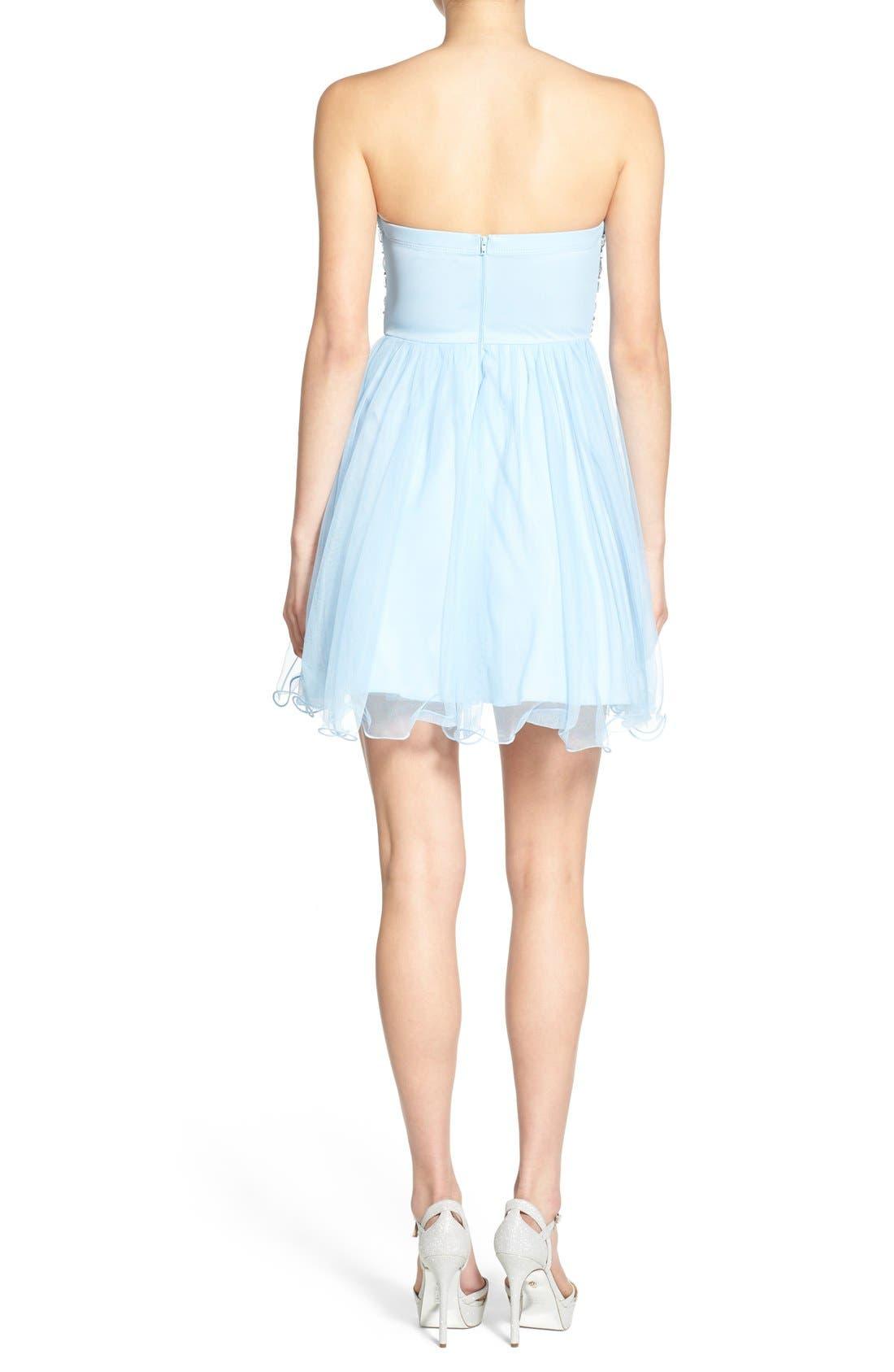 Alternate Image 2  - Sequin Hearts Rhinestone Bodice Strapless Dress