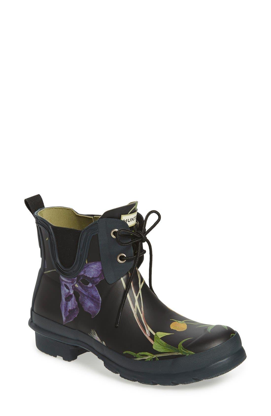 Main Image - Hunter 'Royal Horticultural Society' Waterproof Lace-Up Short Rain Boot (Women)