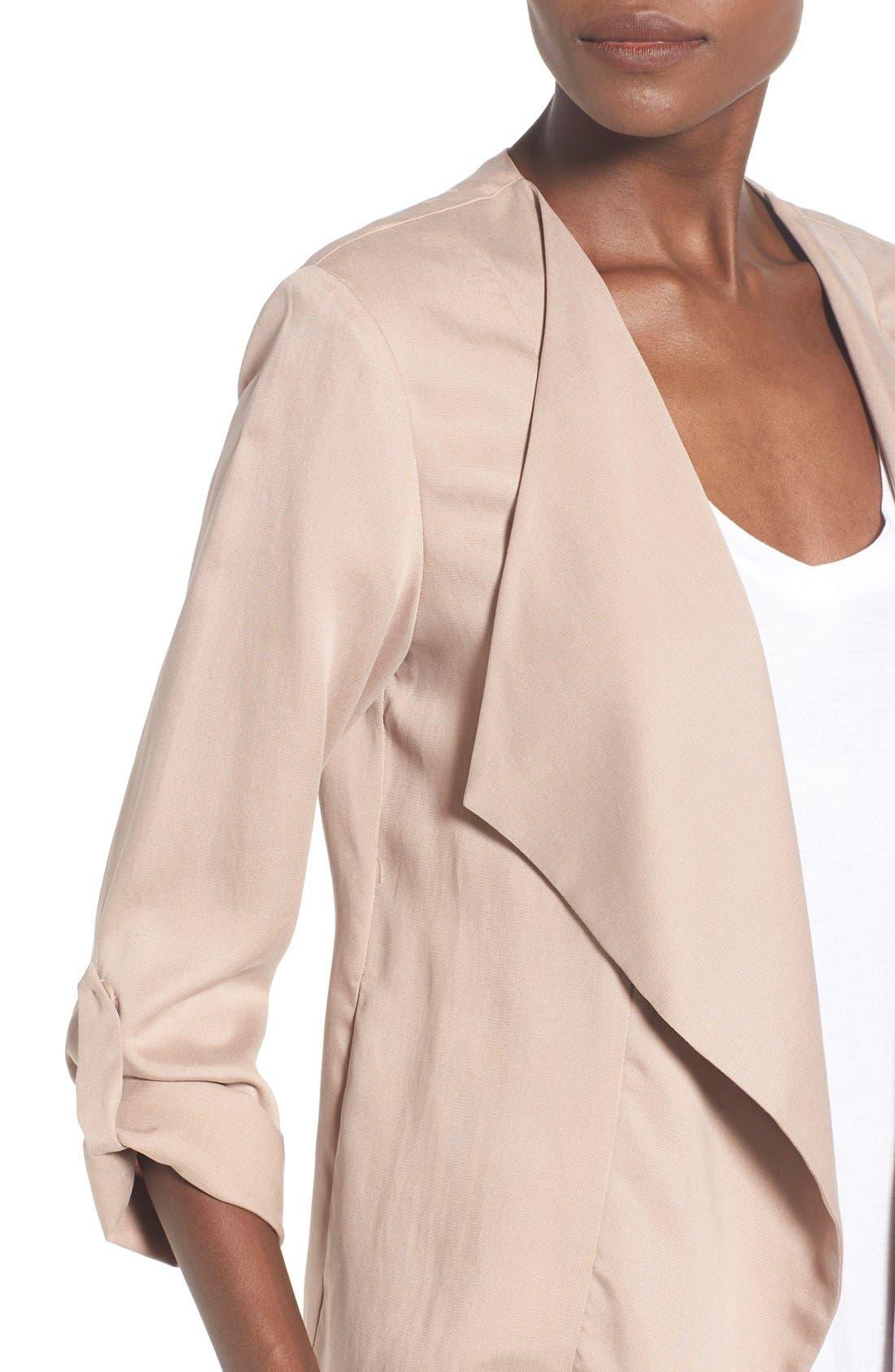 Alternate Image 5  - ASTR Drape Front Jacket