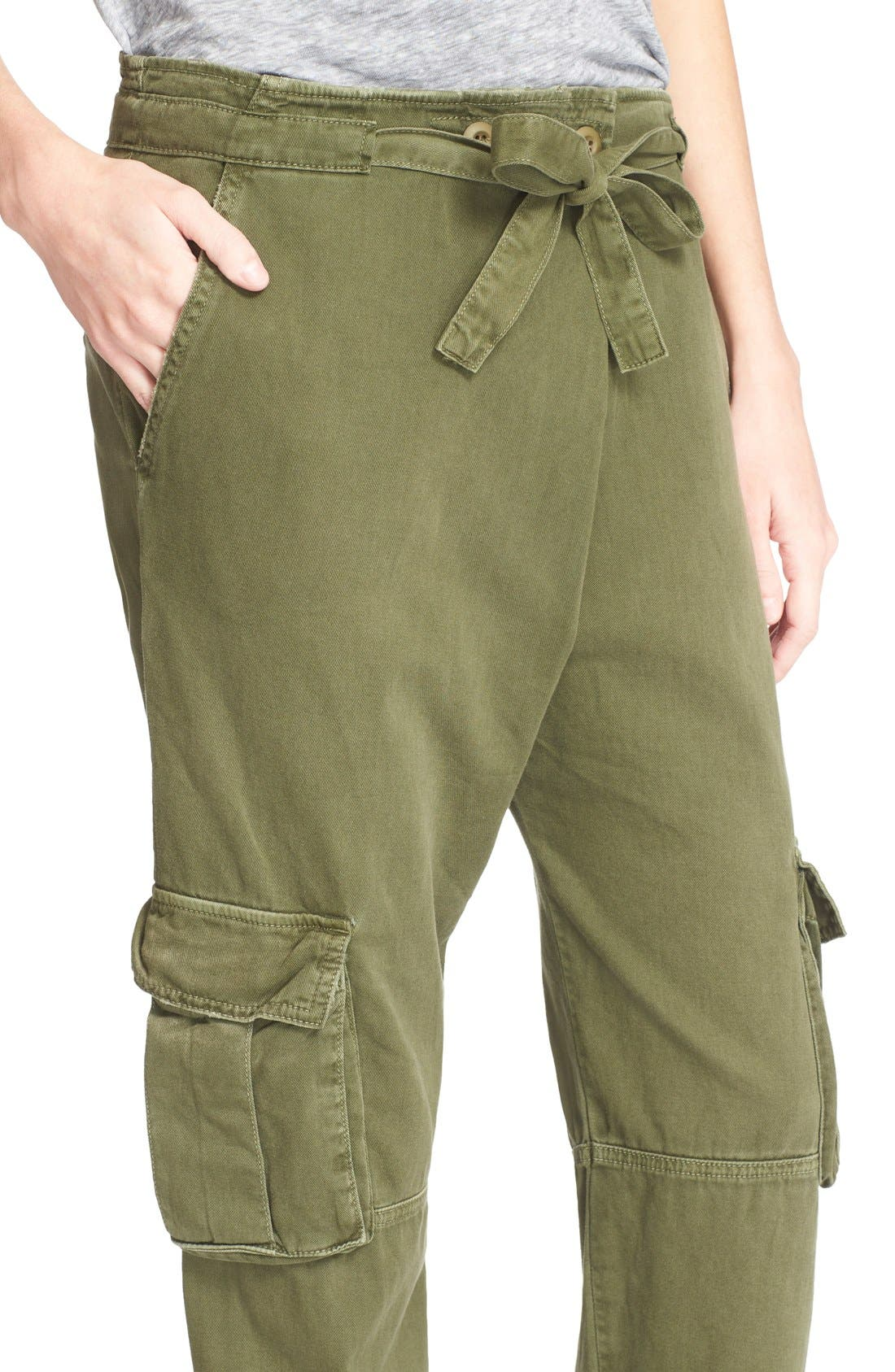 Alternate Image 4  - Current/Elliott 'The Buddy' Cotton Twill Trousers