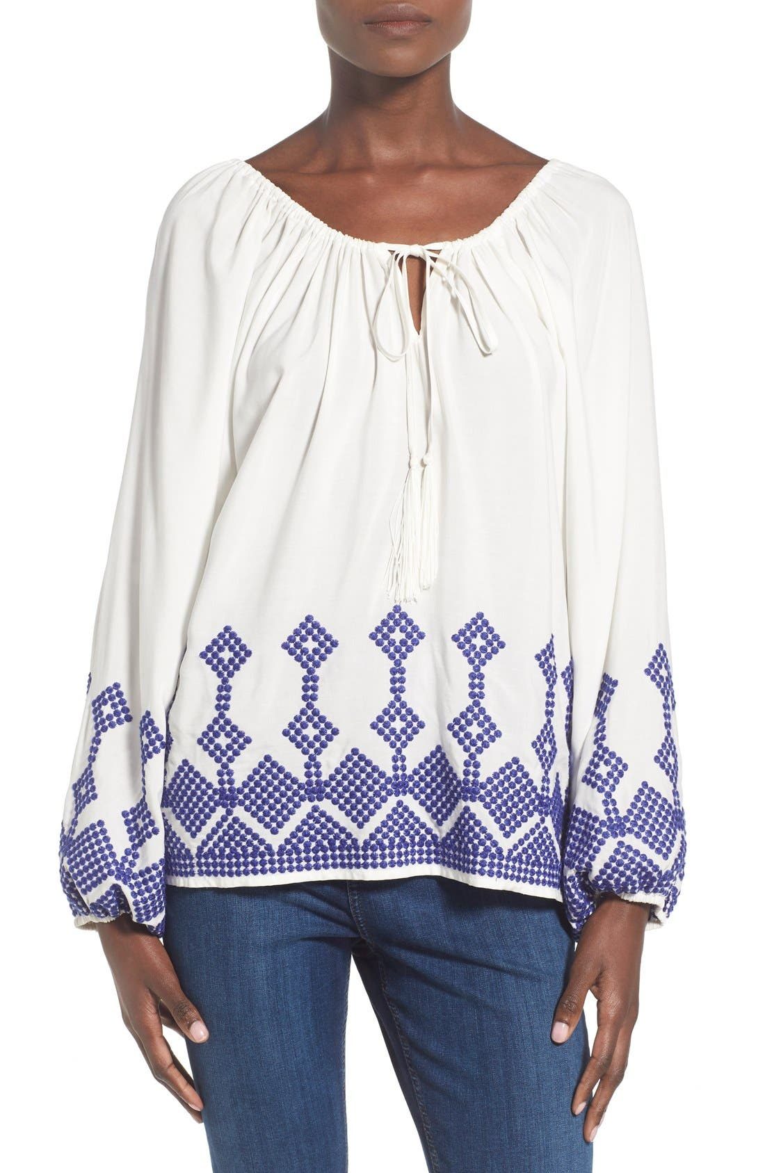 Alternate Image 1 Selected - devlin 'Irene' Embroidered Blouse