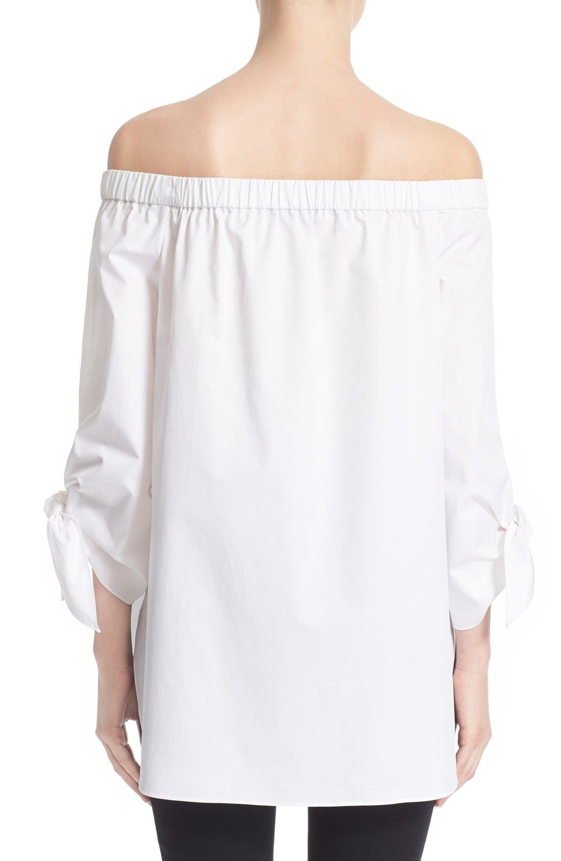 Alternate Image 2  - Tibi Off the Shoulder Cotton Tunic