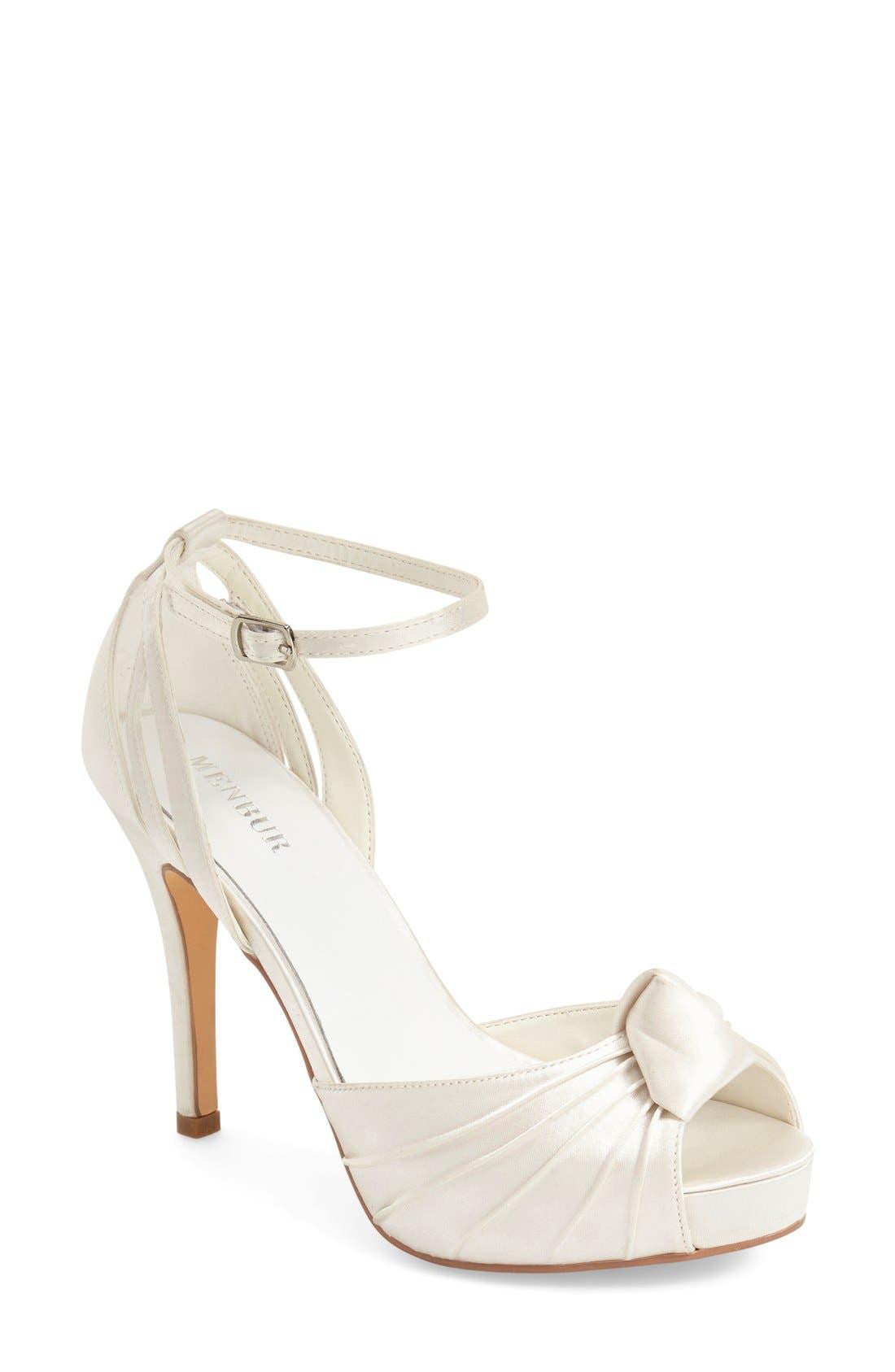 MENBUR 'Angelica' Satin Bridal Sandal