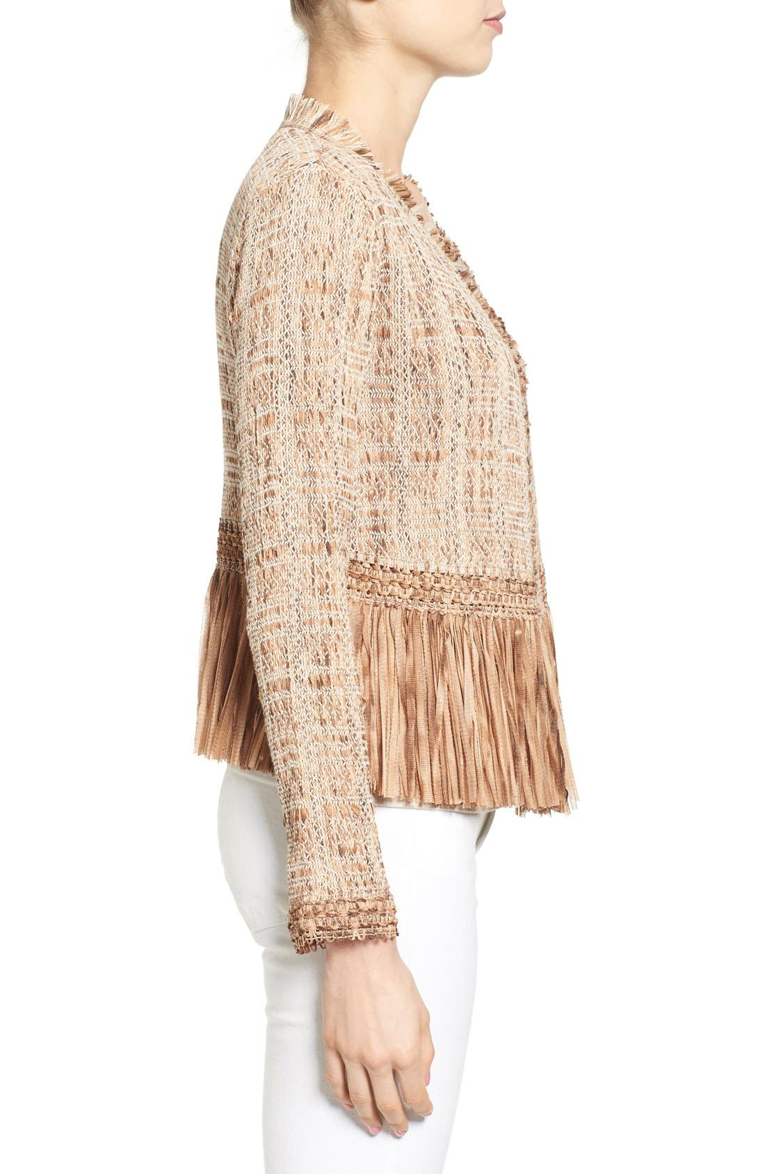 Alternate Image 3  - NIC+ZOE 'Cork' Fringe Tweed Jacket (Regular & Petite)