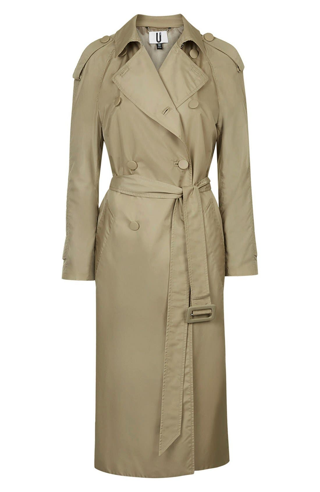 Alternate Image 6  - Topshop Unique 'Great Smith' Double Breasted Trench Coat