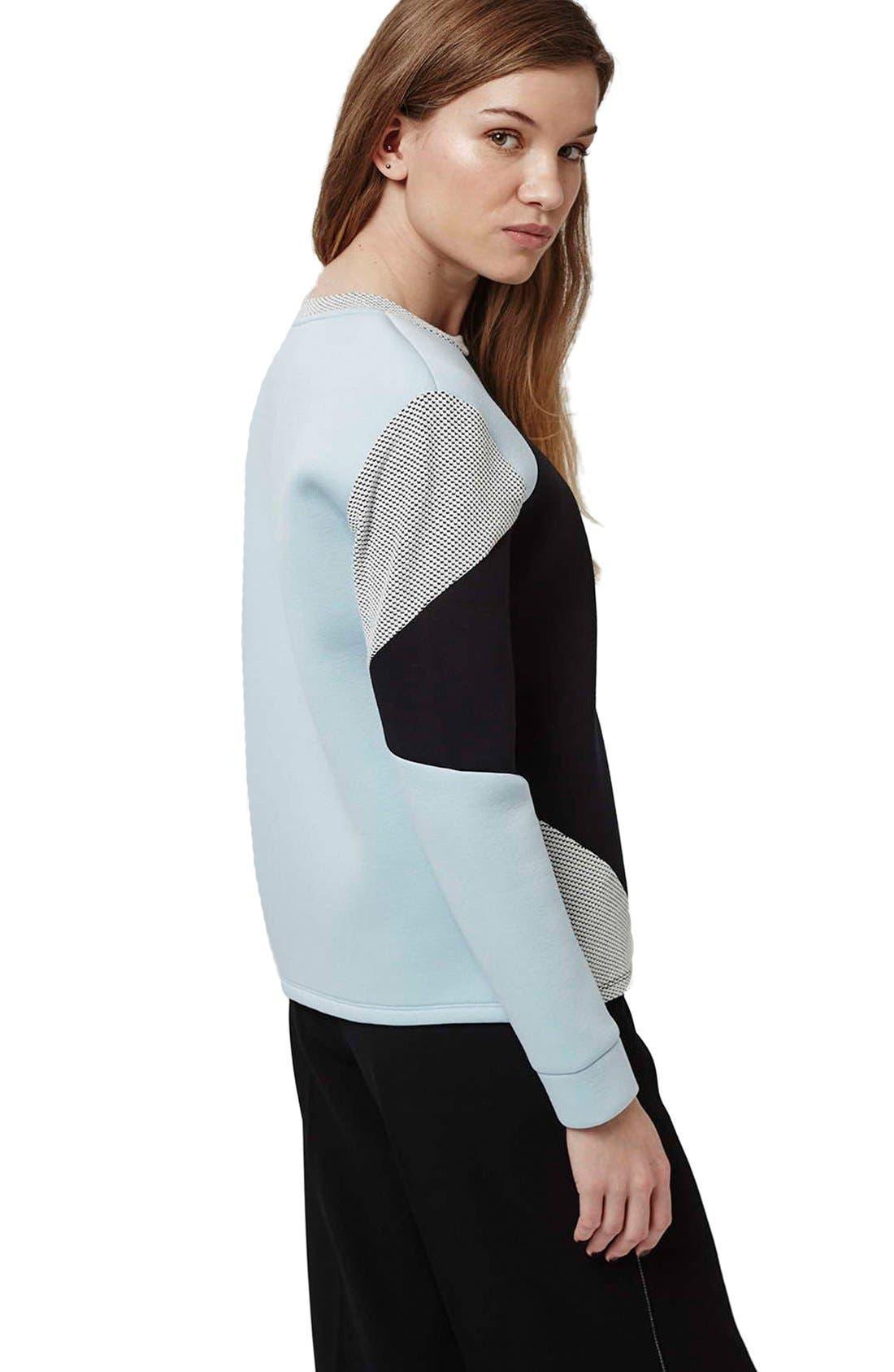 Alternate Image 3  - Topshop Colorblock Sweatshirt
