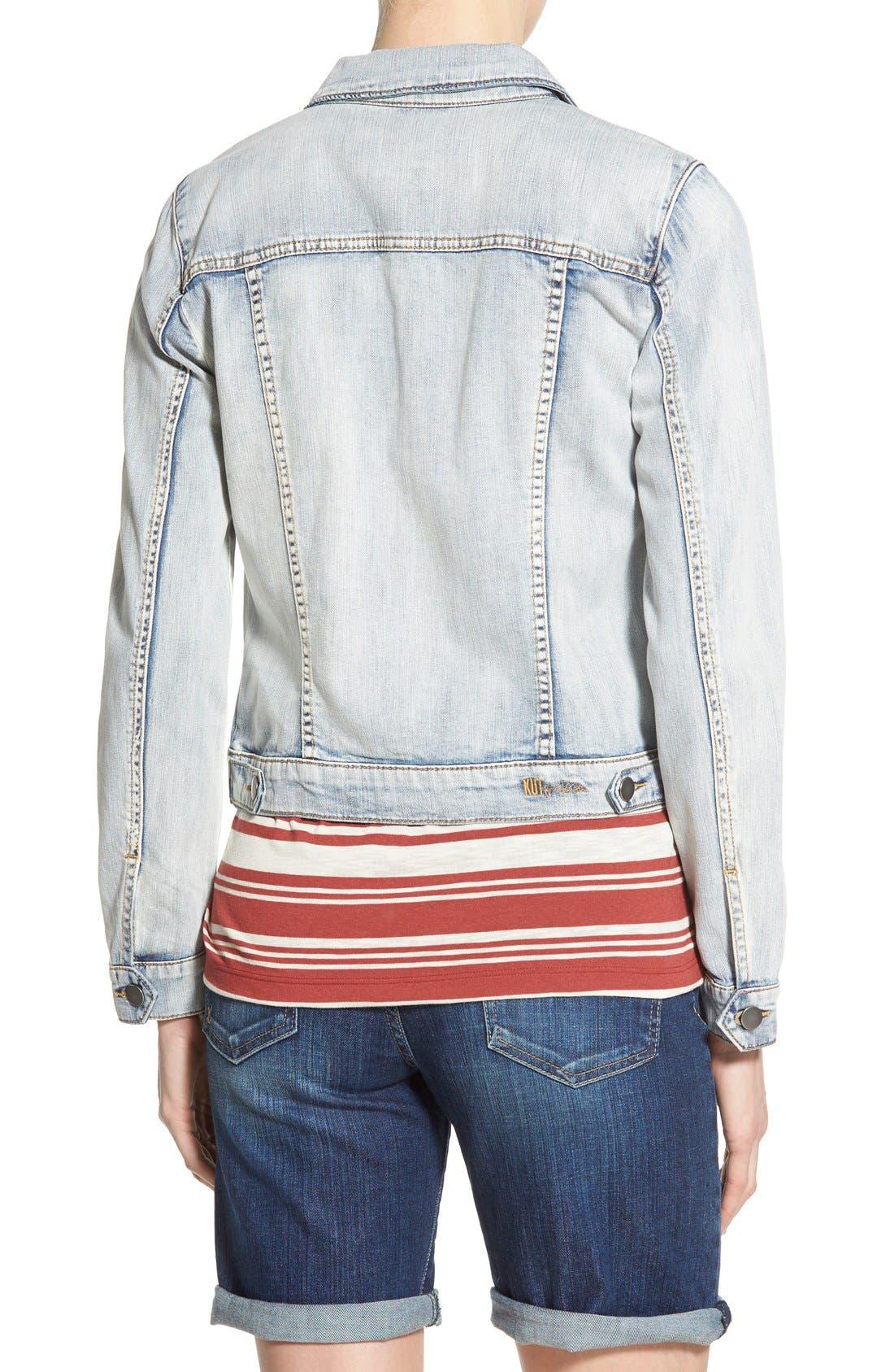 Alternate Image 2  - KUT from the Kloth 'Helena' Denim Jacket (Sweet)