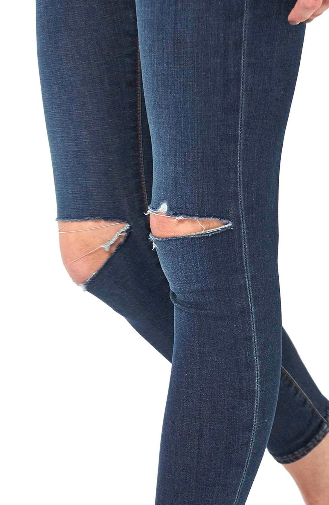 Alternate Image 5  - Topshop 'Leigh' Vintage Ripped Jeans (Petite)