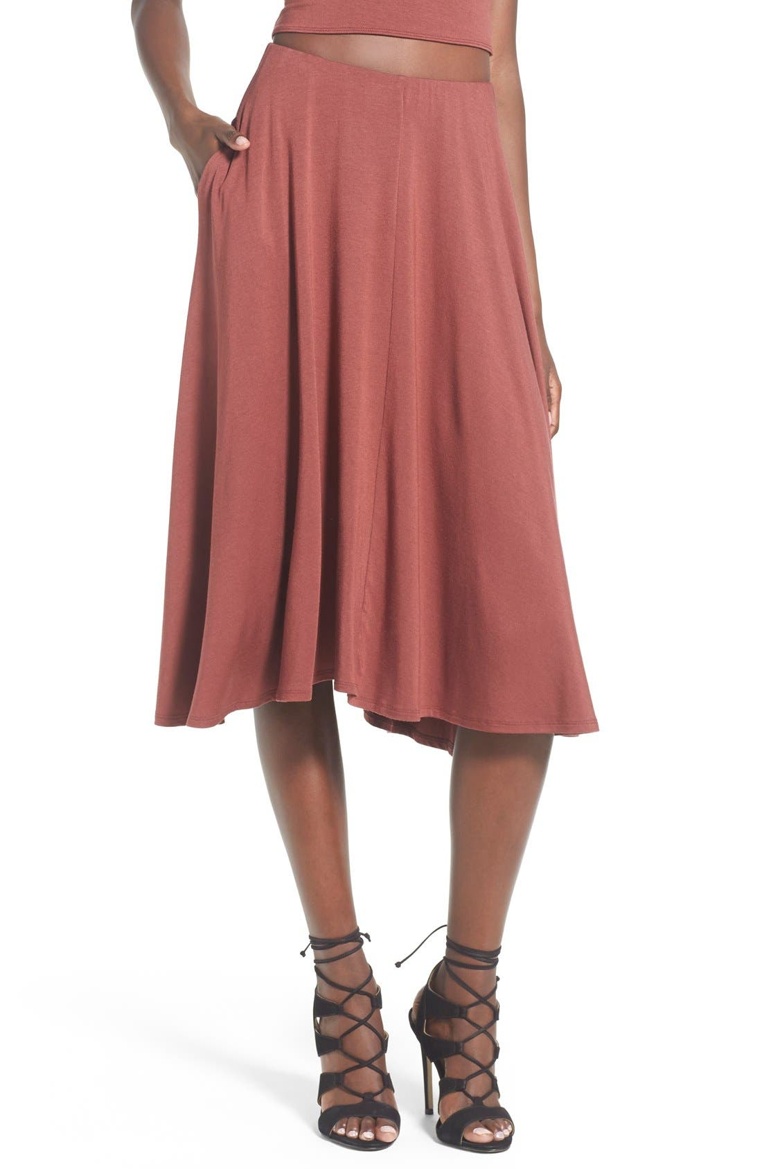 Main Image - Leith Circle Midi Skirt