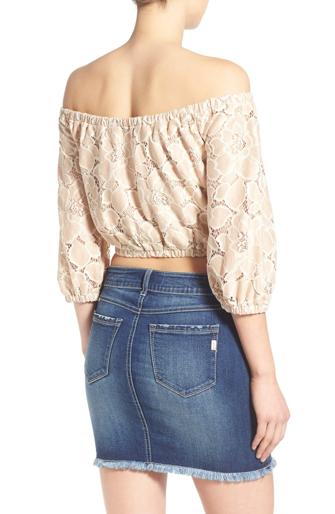 Alternate Image 3  - Tularosa 'Hadley' Off the Shoulder Lace Crop Top