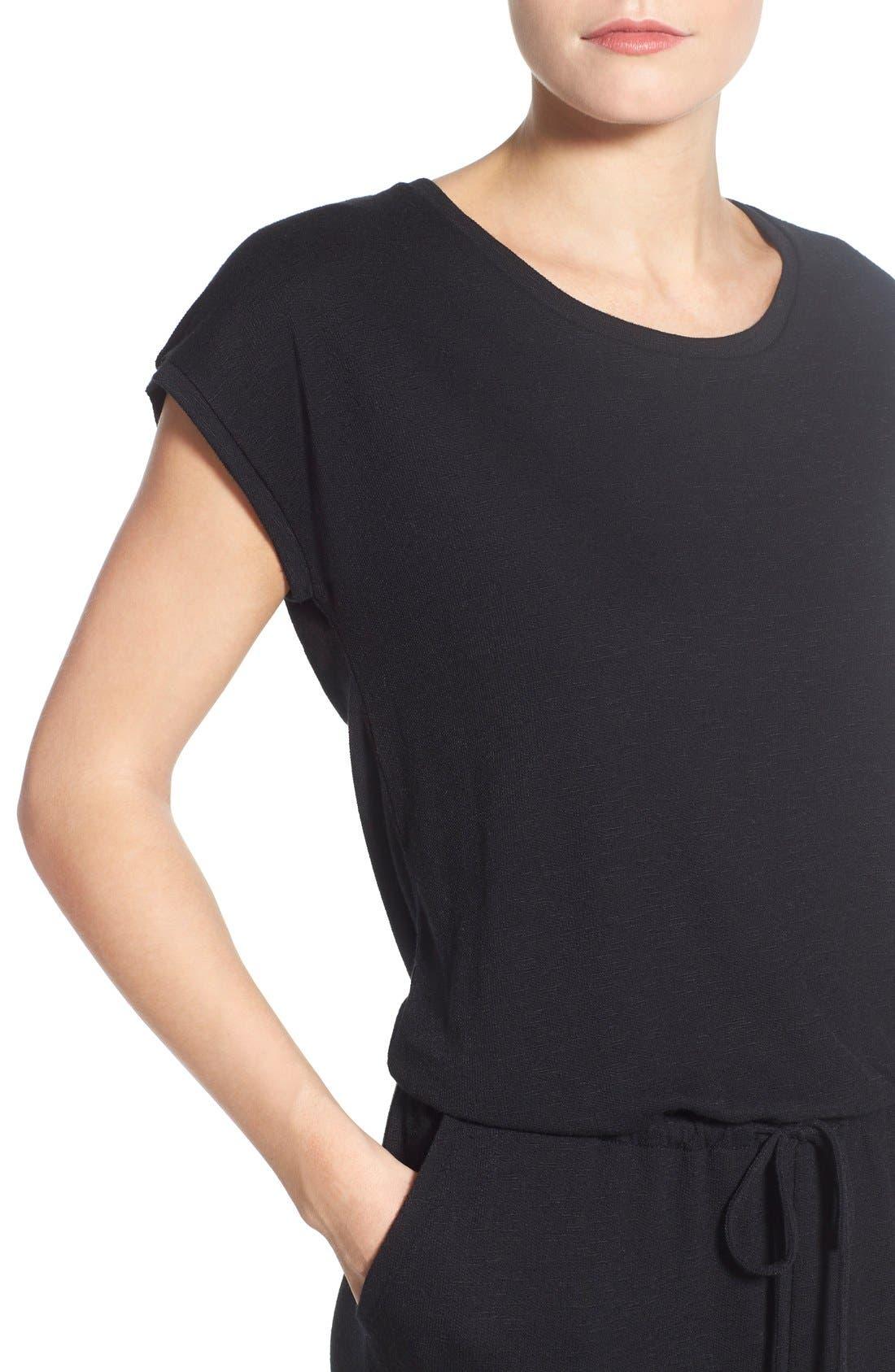 Alternate Image 4  - Caslon® Knit Blouson Jumpsuit (Regular & Petite)