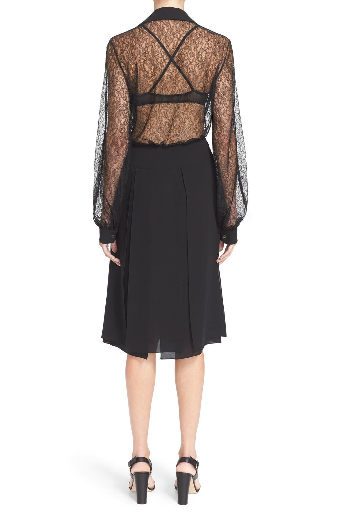 Alternate Image 3  - Michael Kors Tie Neck Chantilly Lace Blouse