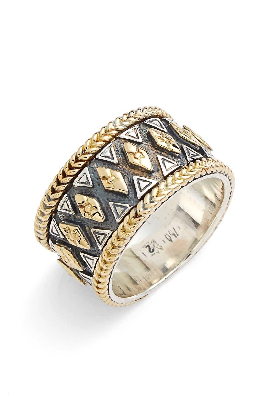 KONSTANTINO 'Hebe' Geo Pattern Band Ring