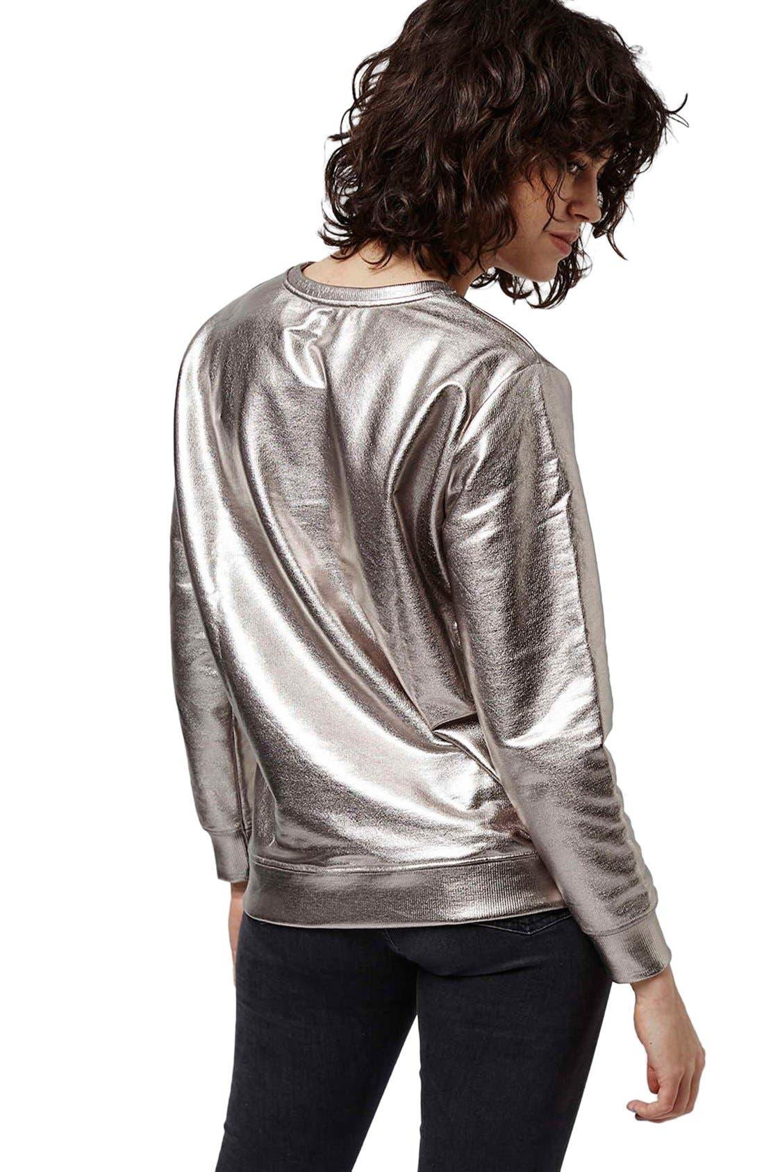 Alternate Image 3  - Topshop 'Luxe' Foiled Sweatshirt