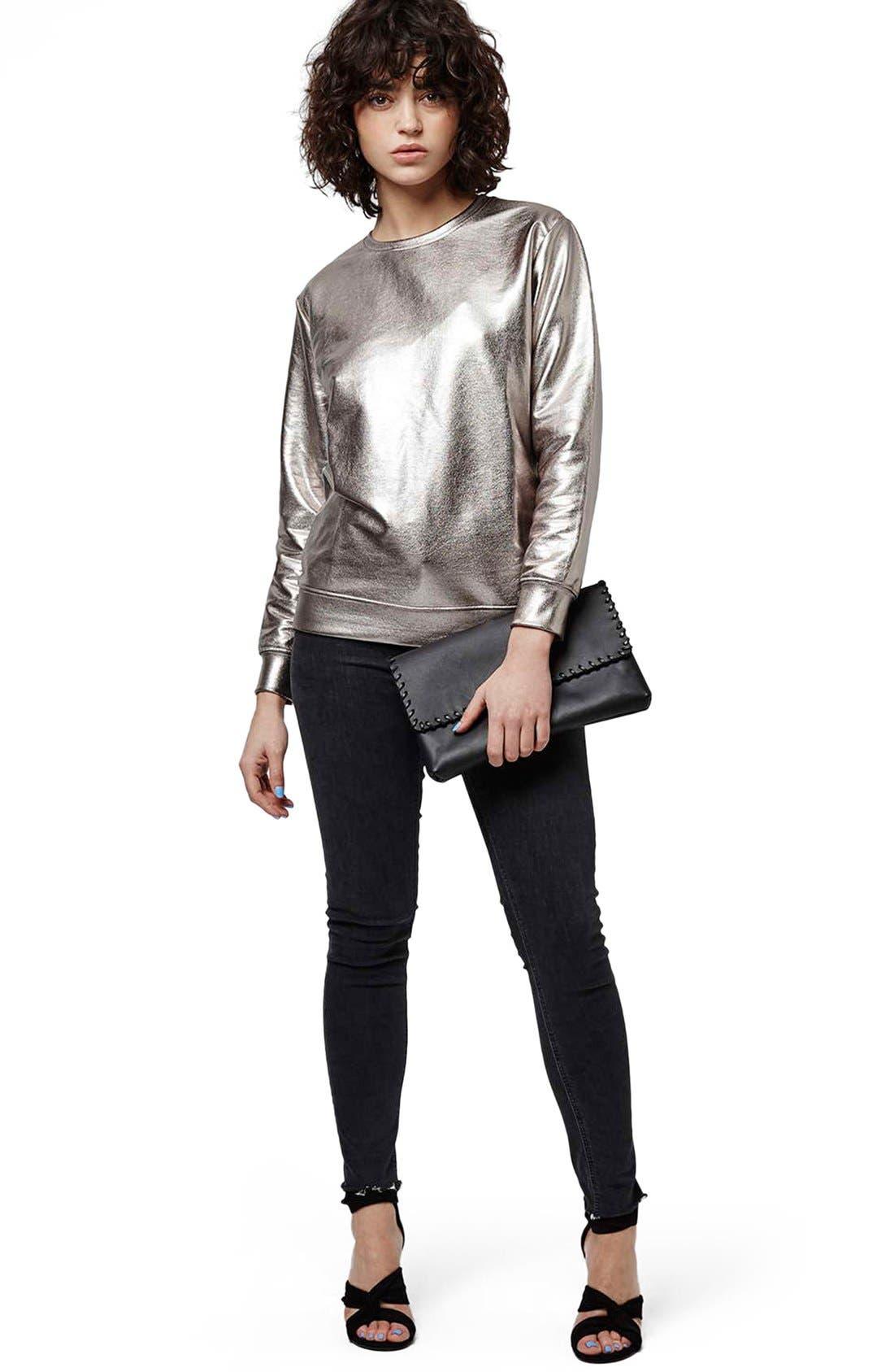 Alternate Image 2  - Topshop 'Luxe' Foiled Sweatshirt