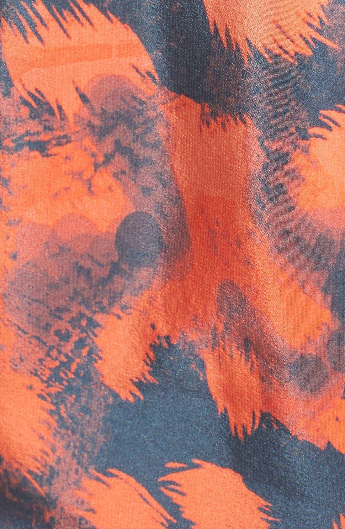 Alternate Image 6  - Charlie Jade Strapless Print Silk Romper