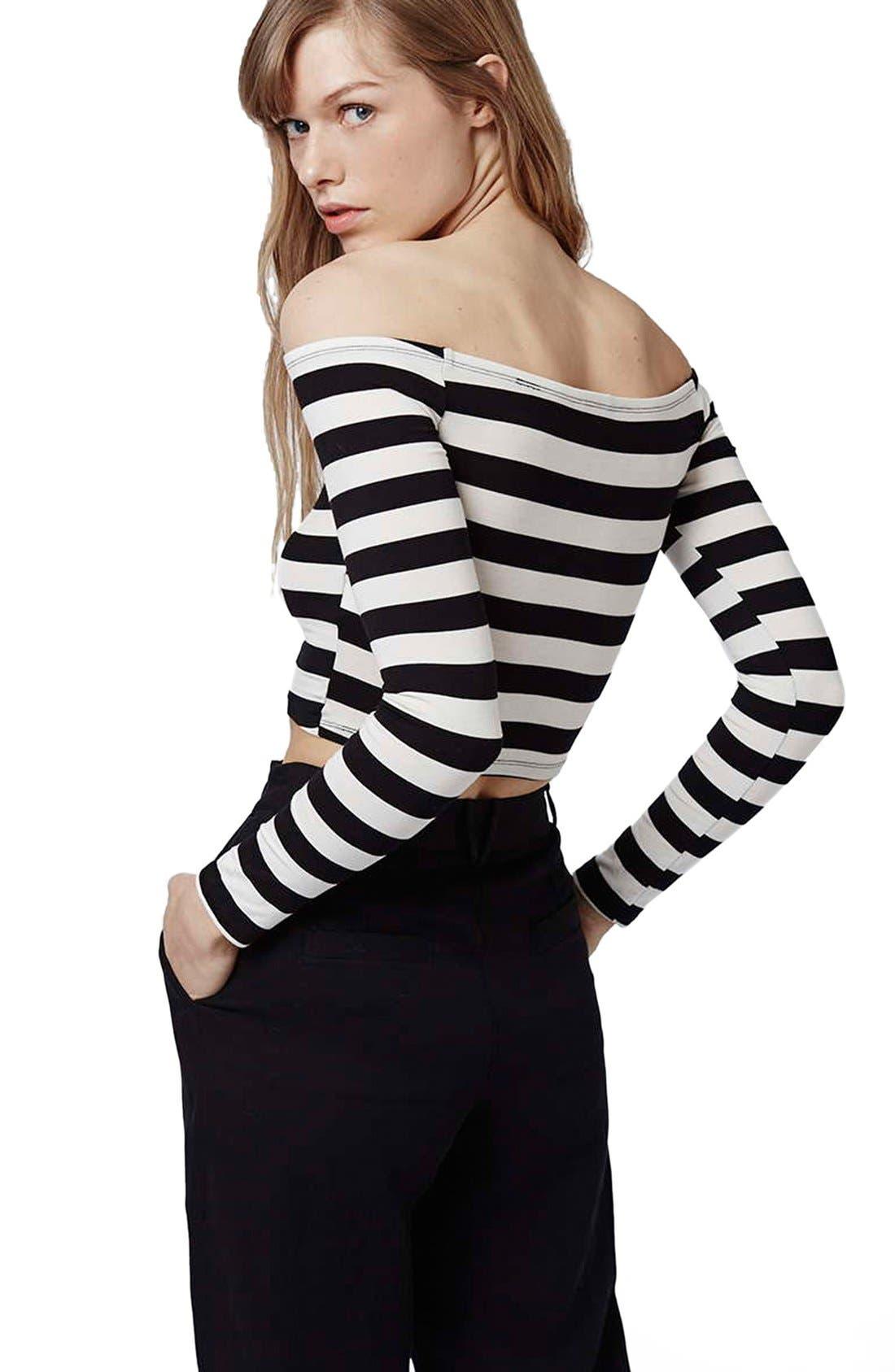 Alternate Image 3  - Topshop Stripe Off the Shoulder Top