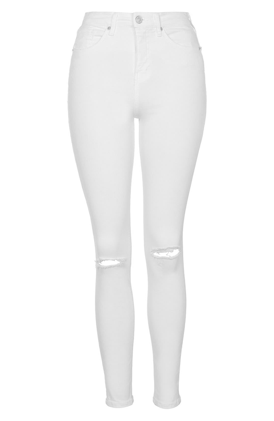 Alternate Image 4  - Topshop 'Jamie' Ripped High Rise Ankle Skinny Jeans