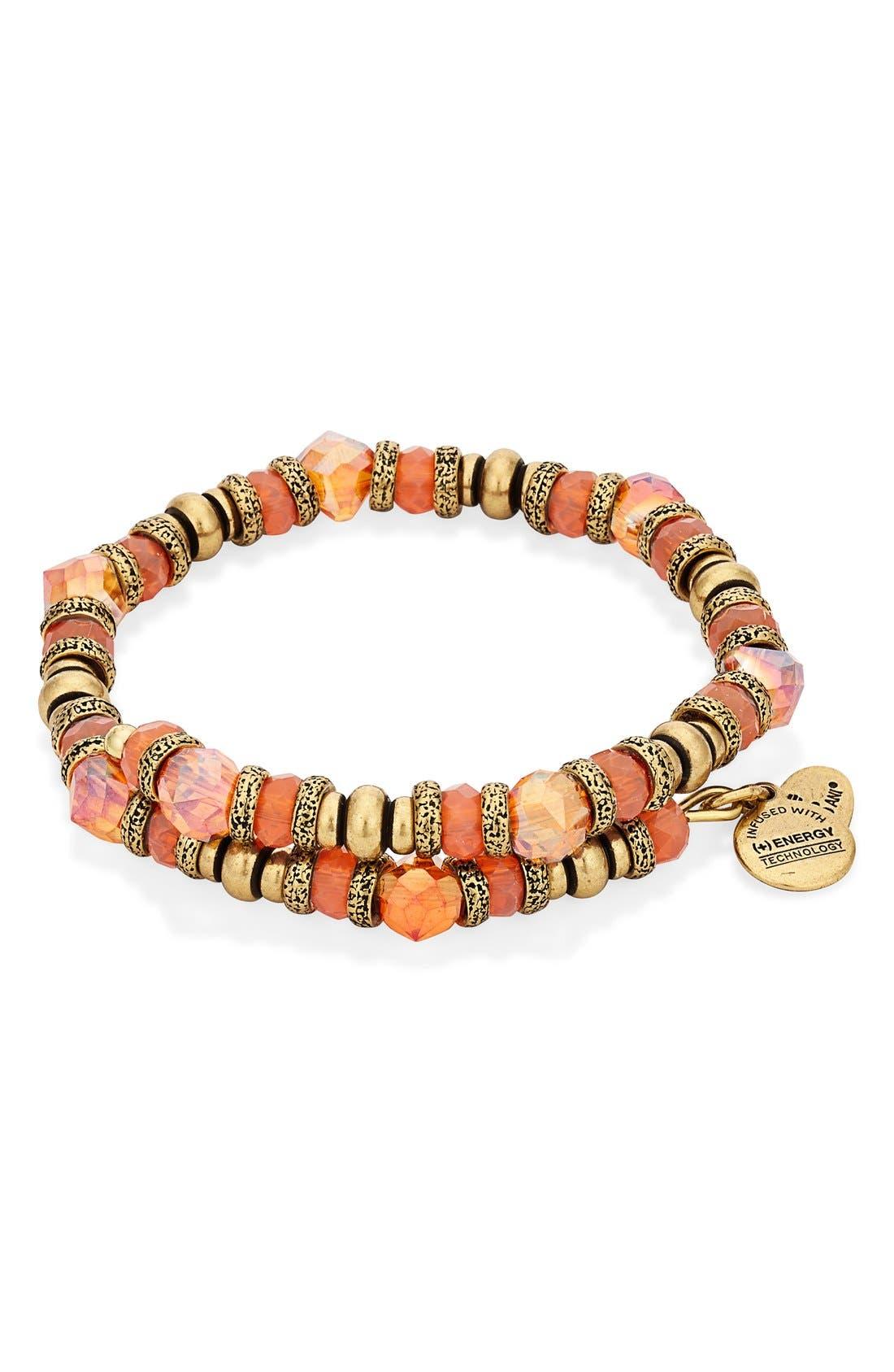 Main Image - Alex and Ani 'Sunset Nature's Brilliance' Beaded Wrap Bracelet